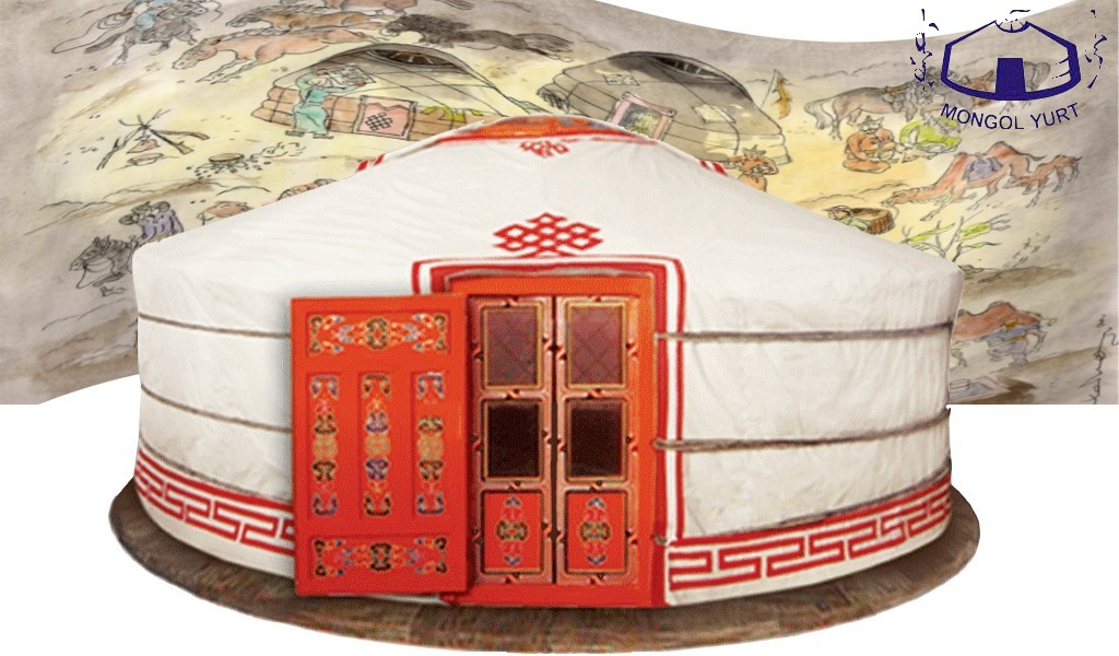 La yourte mongol porte de yourte traditionnelle for Porte yourte