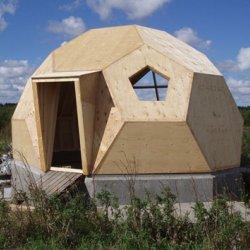 Habiter autrement for Maison dome en bois